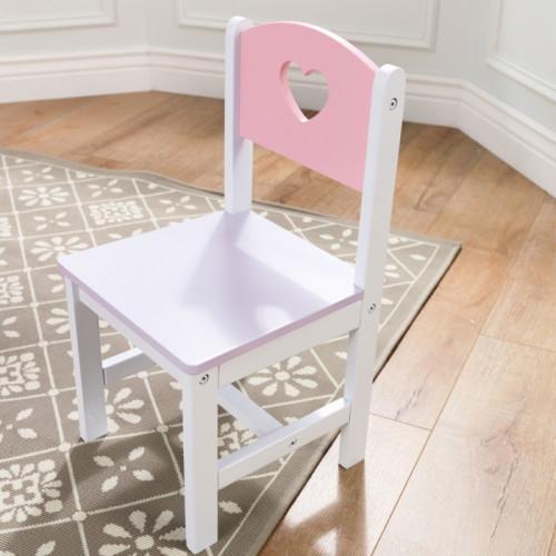 KidKraft Drewniany Stolik z pojemnikami i krzesełkami w serduszka