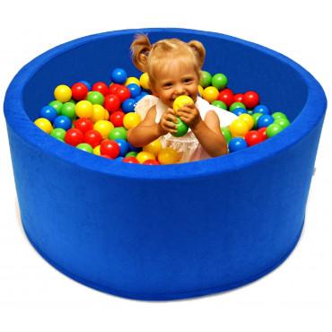 Suchy basen dla dzieci 90x40 z kulkami piłeczkami 7cm - Niebieski