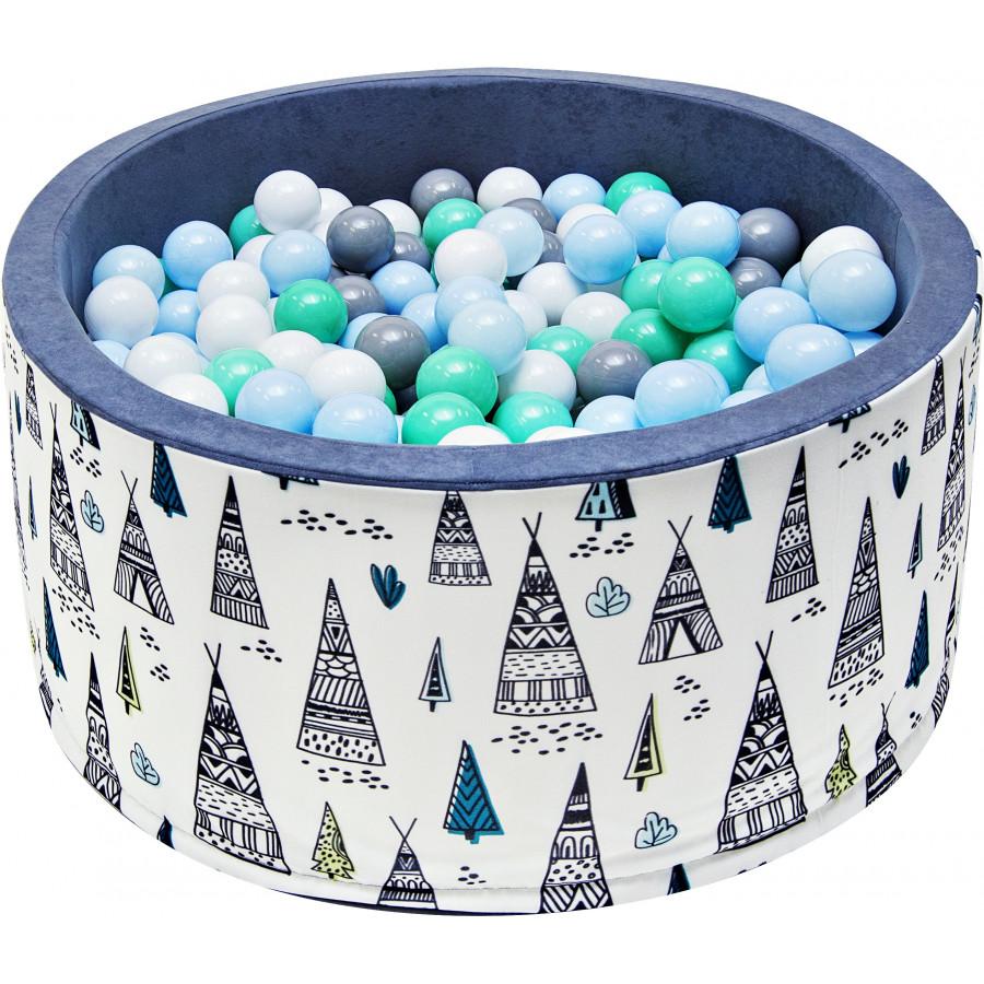 Suchy basen dla dzieci 90x40 z kulkami piłeczkami 7cm - Tipi