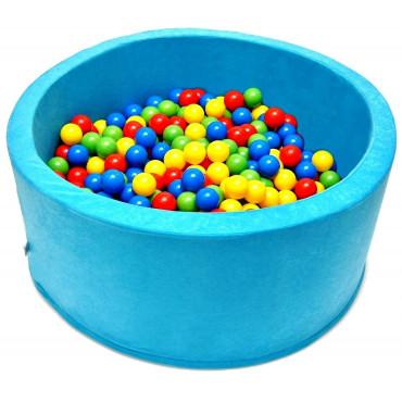 Suchy basen dla dzieci 90x40 z kulkami piłeczkami 7cm - Błękitny