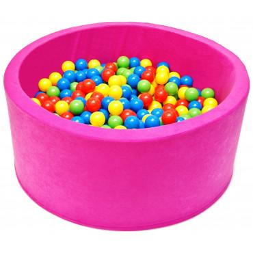 Suchy basen dla dzieci 90x40 z kulkami piłeczkami 7cm - Różowy