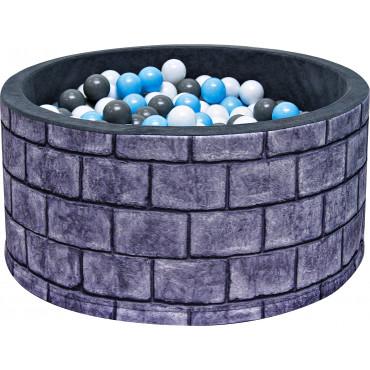 Suchy basen dla dzieci 90x40 z kulkami piłeczkami 7cm - Murek
