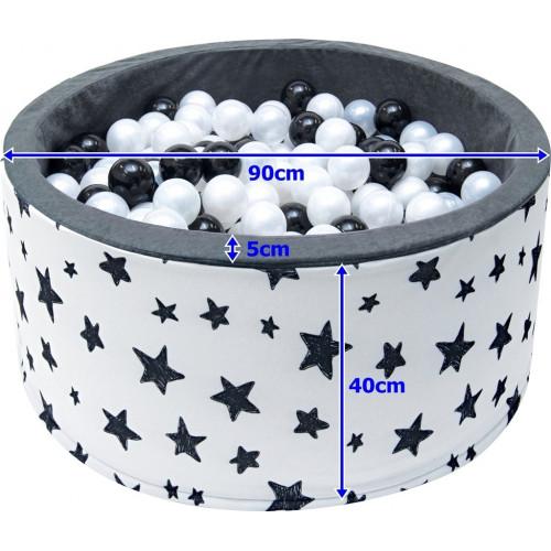 Suchy basen dla dzieci 90x40 z kulkami piłeczkami 7cm - Jeżyki