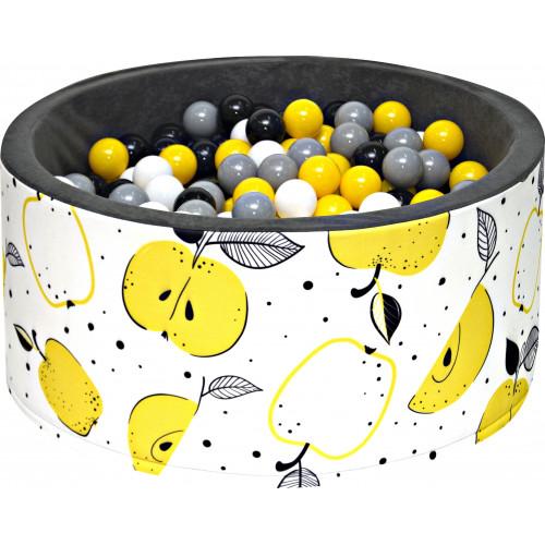Suchy basen dla dzieci 90x40 z kulkami piłeczkami 7cm - Owoce