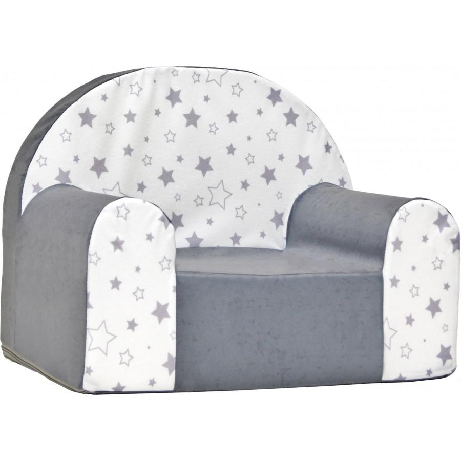 Fotelik kanapa piankowa dziecięca - Puzzle zielony