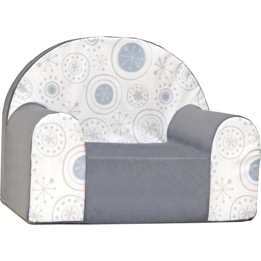 Fotelik kanapa piankowa dziecięca - Serca