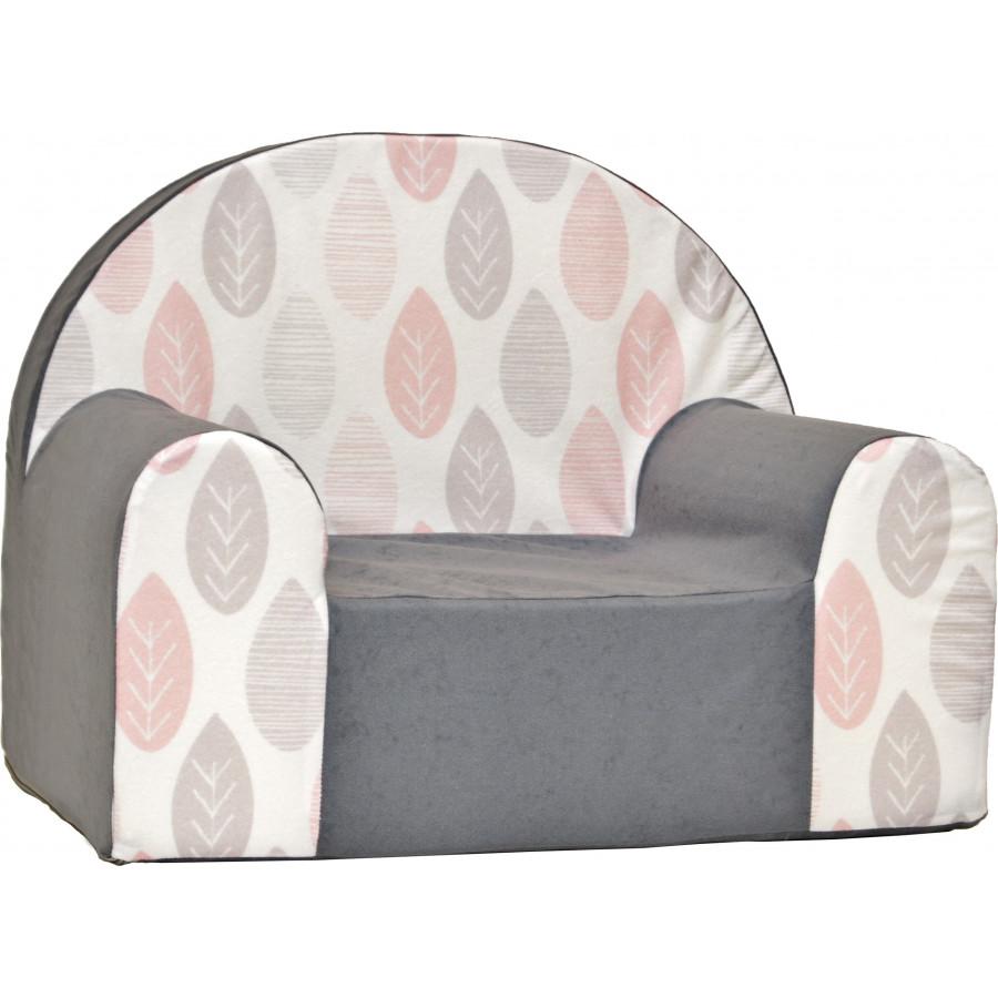 Fotelik kanapa piankowa dziecięca - Płatki śniegu