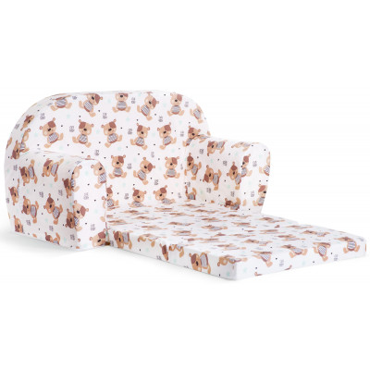 Sofka dziecięca rozkładana kanapa piankowa - Miś Teddy