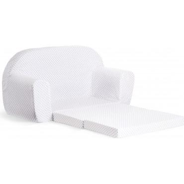 Sofka dziecięca rozkładana kanapa piankowa -Szare kropki