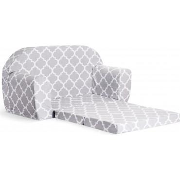 Sofka dziecięca rozkładana kanapa piankowa - Marokańska koniczyna