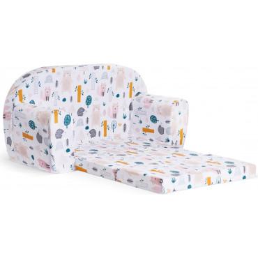 Sofka dziecięca rozkładana kanapa piankowa - Las