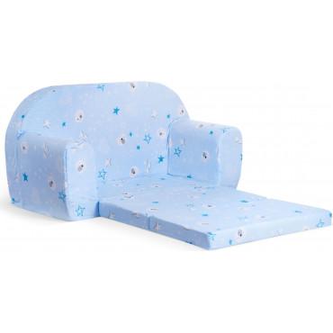Sofka dziecięca rozkładana kanapa piankowa - Łebki niebieskie