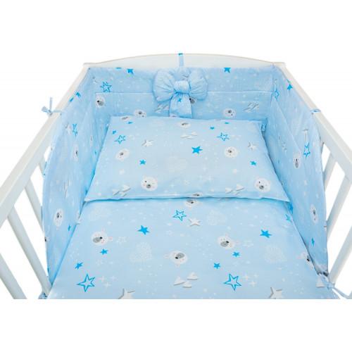Bawełniana pościel dziecięca w kolorze niebieskim - antyalergiczna i ciepła!