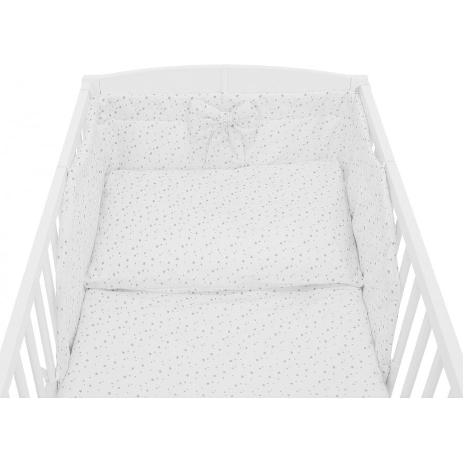Pościel dziecięca do łóżeczka w gwiazdki biała - gwiazdozbiór