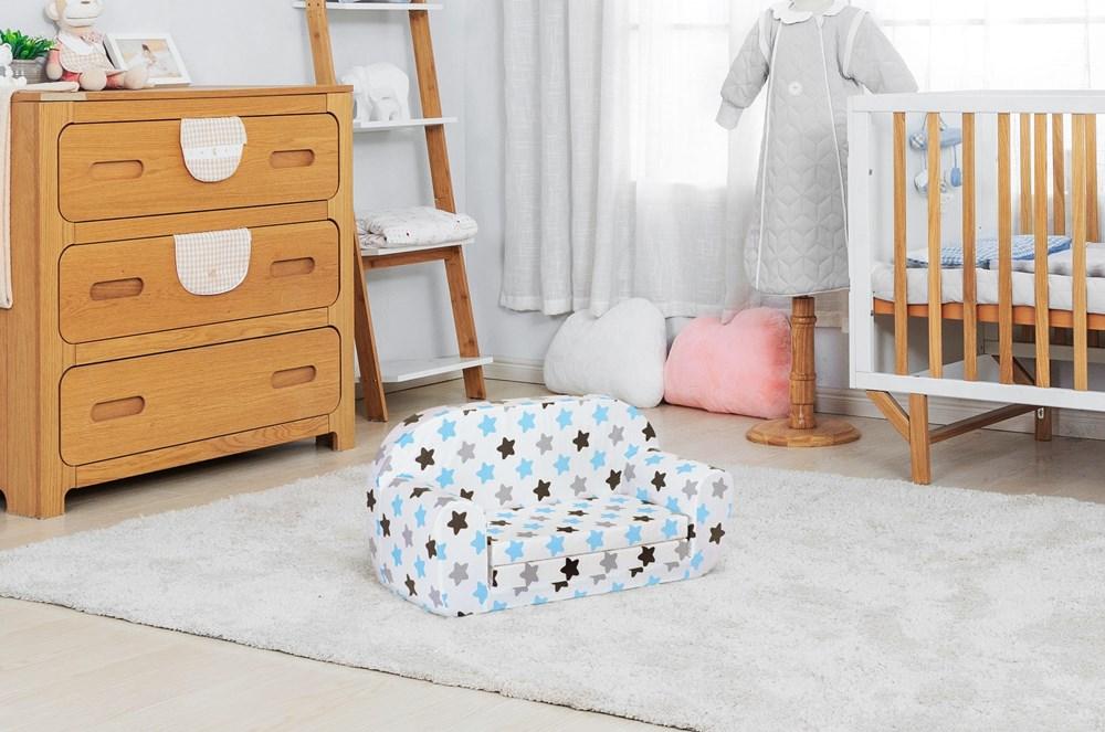 Sofka dziecięca tuppi SF80 w pokoju dziecięcym